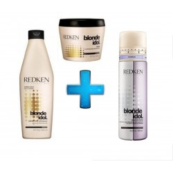 Redken Kit Blonde Idol (Shampoo, Máscara e Custom-Tone)