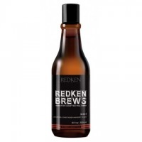 REDKEN BREWS 3-IN-1 SHAMPOO, CONDITIONER & BODY WASH 300ml